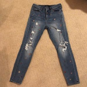 Excellent condition LUCKY BRAND floral jeans